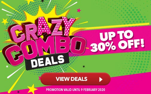CRAZY COMBO DEALS UP TO 30% OFF!