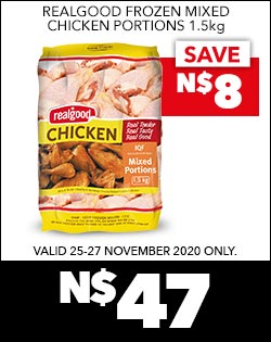 REALGOOD FROZEN MIXED CHICKEN PORTIONS 1.5kg, N$47