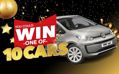 YOU COULD WIN ONE OF 10 CARS