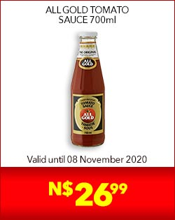 ALL GOLD TOMATO SAUCE 700ml, N$26,99